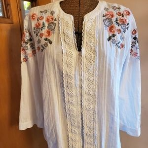 Westport Large Cotton Embroidered Blouse